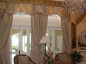 Empire valance and drapes for large windows