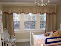 Rod pocket valance and drapes for children�s bedroom
